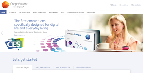 CooperVision Website